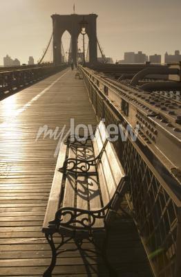 Cuadro Puente de Brooklyn en sepia