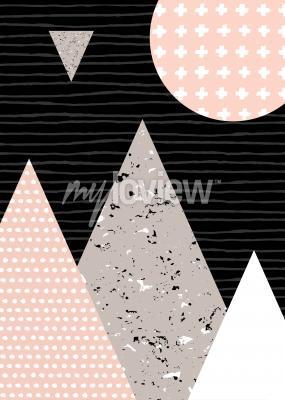 Fotomural Patrón de puntos y elementos geométricos