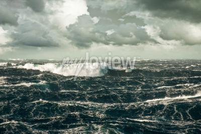 Cuadro Una ola gigantesca se estrella en el Atlántico Norte