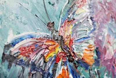 Cuadro Primer fragmento de la pintura al óleo mariposa