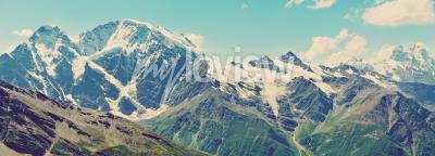 Fotomural Panorama de las montañas de invierno