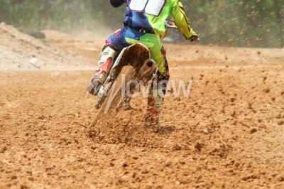 Fotomural Suciedad de los desechos de una carrera de motocross
