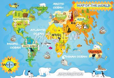 Fotomural Mapa del mundo de los niños