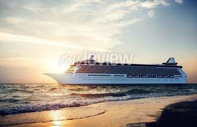 Fotomural Yate Crucero Mar Océano Tropical Concepto Escénico