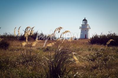 Fotomural Faro histórico en Waipapa Point Catlins Nueva Zelanda