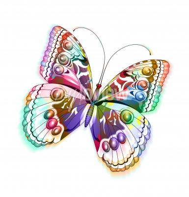 Vinilo Colorido aislados mariposa