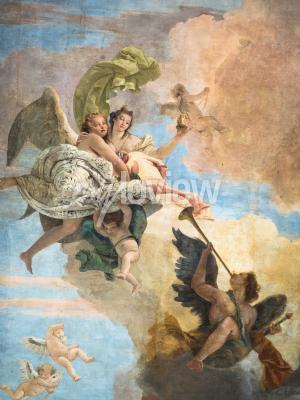 Cuadro Detalle del fresco de Giambattista Tiepolo Italia