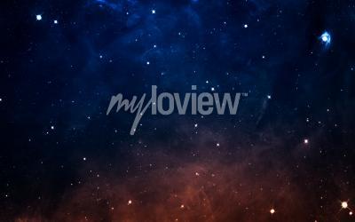 Fotomural Starfield en el espacio profundo muchos años luz lejos de la Tierra