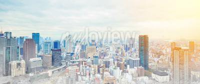 Fotomural Asia Concepto de negocio para la construcción inmobiliaria y corporativa