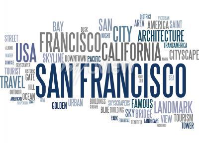 Fotomural Nube de la palabra de San Francisco