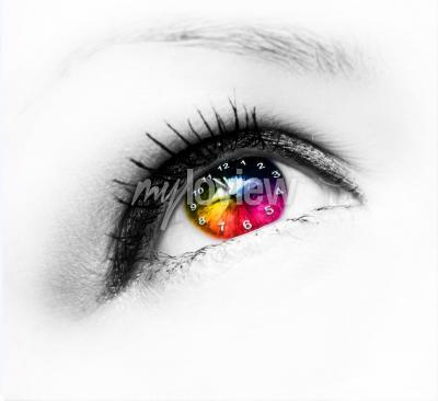 Cuadro Reloj en el ojo