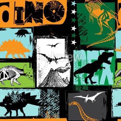 Fotomural Diseño original con dinosaurio t-rex