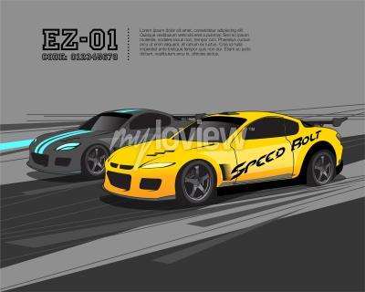 Fotomural Plantilla de diseño de coche de carreras