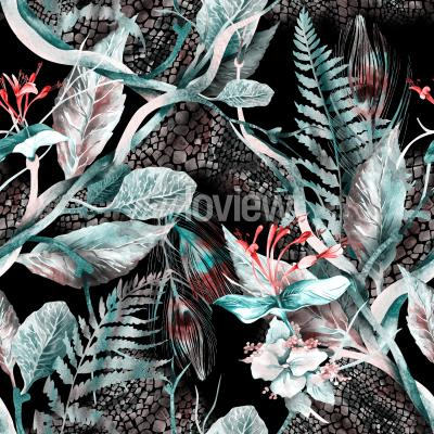 Cuadro Floral Seamless Pattern