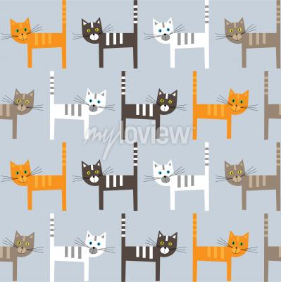 Fotomural Cats pattern