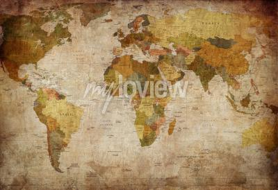 Fotomural Old map of the world