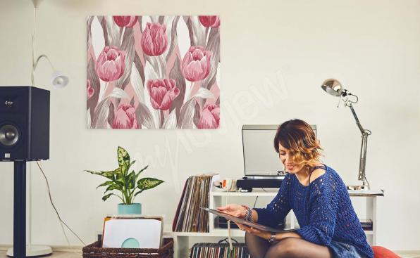 Obraz tulipany akwarela