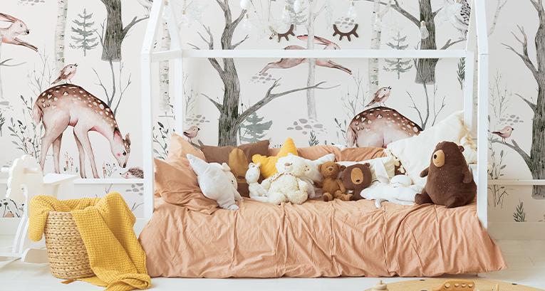 Accesorios para la habitación de una niña con los 5 colores más de moda