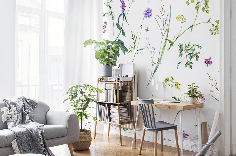 Fotomural flores y hierbas