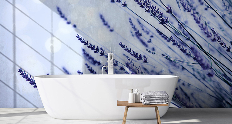 Decoración provenzal - fotomural con lavanda