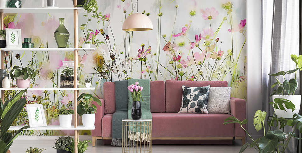 Fotomural prado floral
