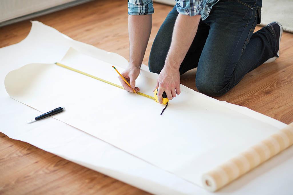 Medición de papel pintado