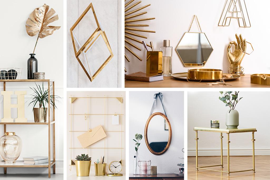 Oro en un interior escandinavo