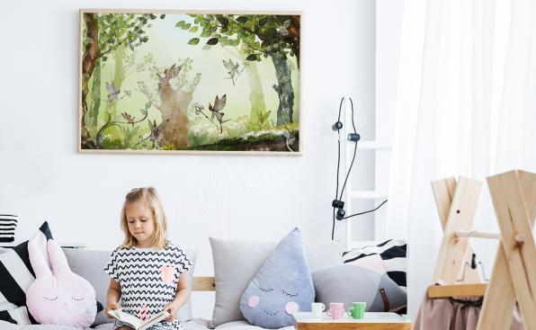 Cartel de bosque infantil