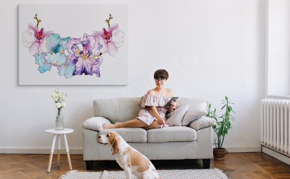 Colorido cuadro orquídea