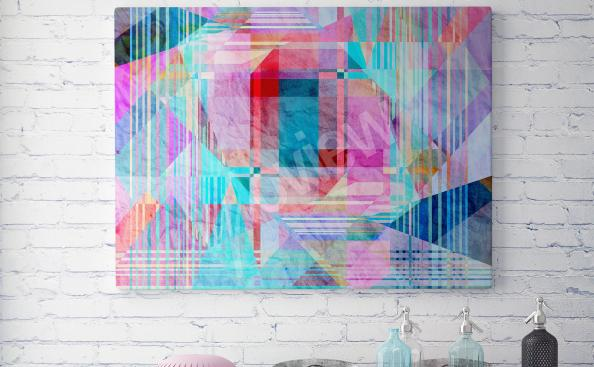 Cuadro abstracción colorida