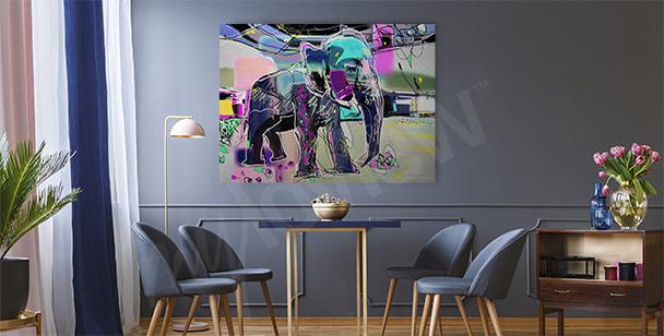 Cuadro abstracta de un elefante