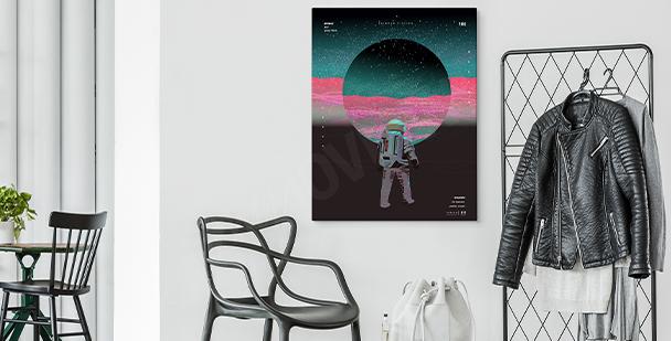 Cuadro abstracto cosmos