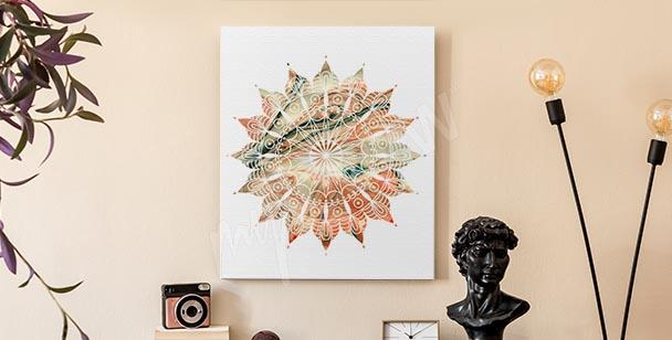 Cuadro abstracto ornamento