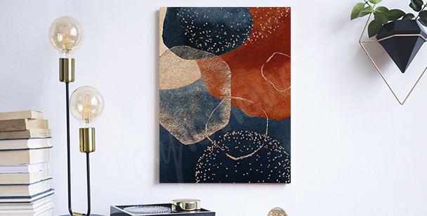 Cuadro abstracto retro