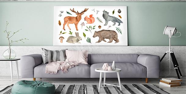 Cuadro animales del bosque
