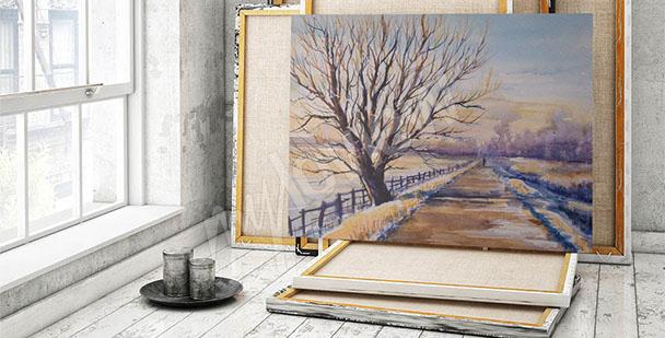 Cuadro árbol paisaje