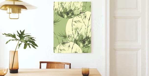 Cuadro bambú en tonos pastel