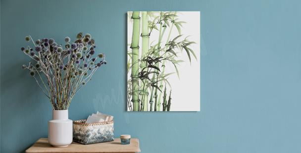 Cuadro bambú minimalista