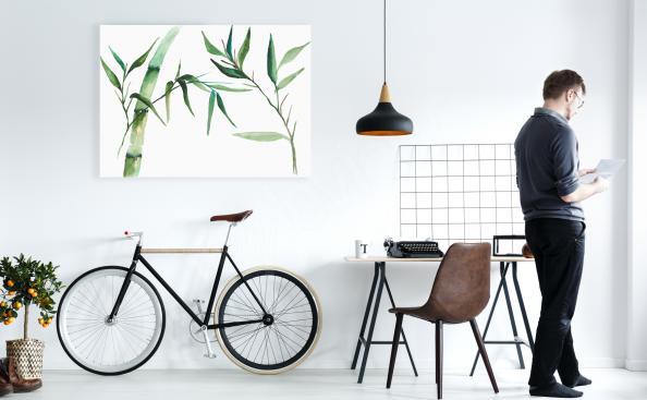 Cuadro bambú para la oficina