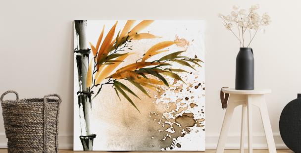 Cuadro bambú para salón