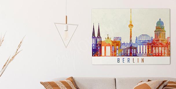 Cuadro Berlín en acuarela