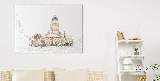 Cuadro Berlín y catedral