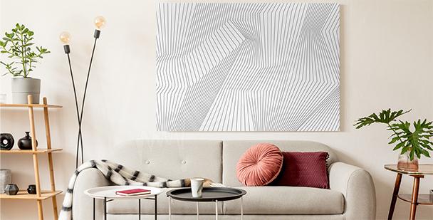 Cuadro blanco y negro 3D