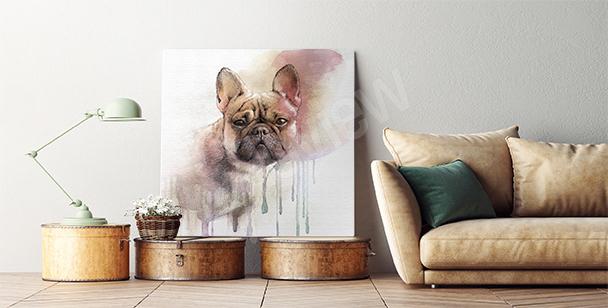 Cuadro bulldog francés