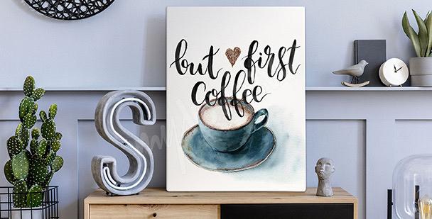 Cuadro café en acuarela