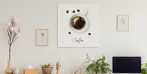 Cuadro café en una taza