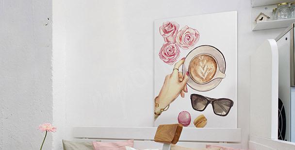Cuadro café femenino
