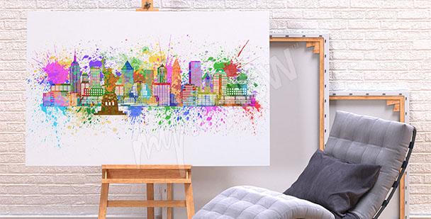 Cuadro colores de Nueva York