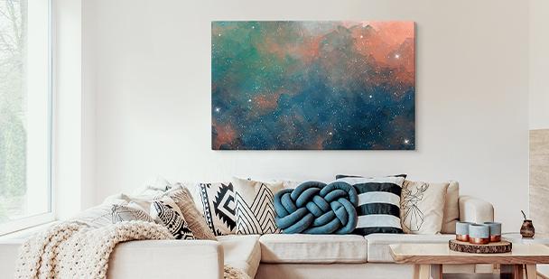 Cuadro colorful galaxy