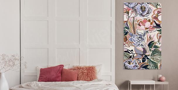 Cuadro colorido floral style